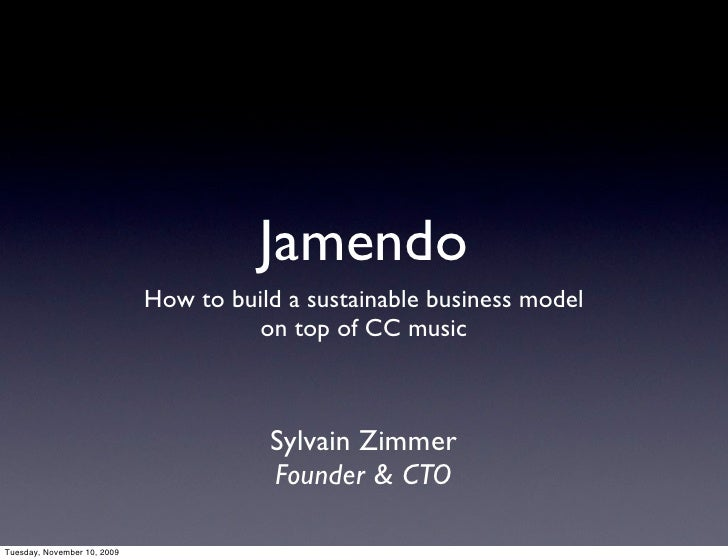 Jamendo                              How to build a sustainable business model                                        on t...