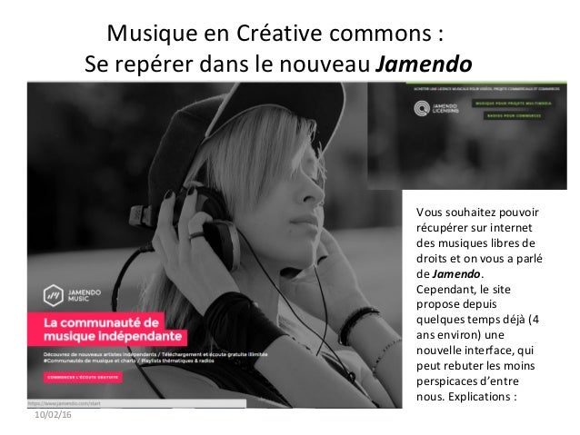 Musique en Créative commons : Se repérer dans le nouveau Jamendo Vous souhaitez pouvoir récupérer sur internet des musique...