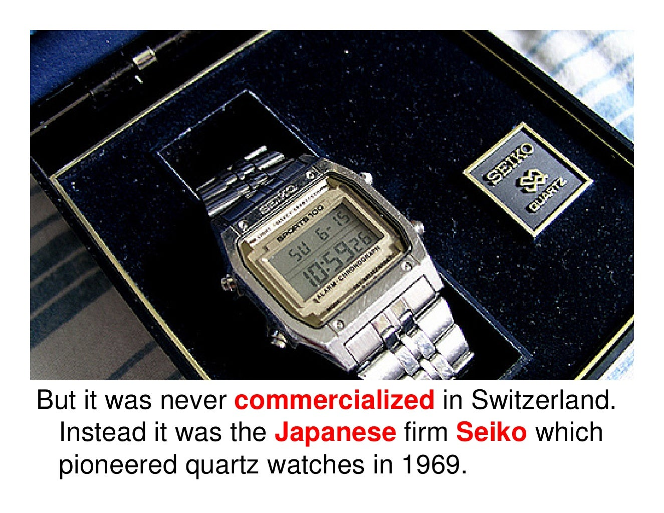 rebirth of swiss watch industry hbr The quartz crisis is a term used in the watchmaking industry to refer to the  economic upheavals caused by the advent of quartz watches in the 1970s and  early 1980s, which largely replaced mechanical watches it caused a decline of  the swiss watchmaking industry, which chose to  the renaissance, the swatch,  and the future of timekeeping[edit.