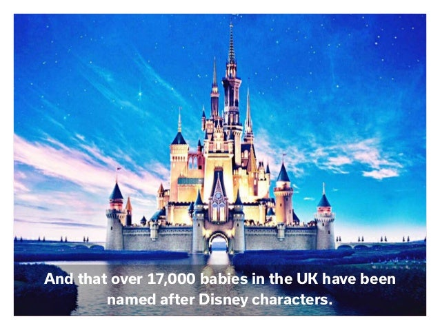 And that over 17,000 babies in the UK have been named after Disney characters.