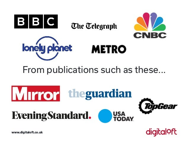 From publications such as these... www.digitaloft.co.uk