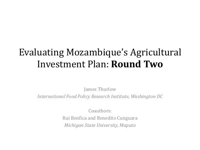 Evaluating Mozambique's Agricultural Investment Plan: Round Two James Thurlow International Food Policy Research Institute...