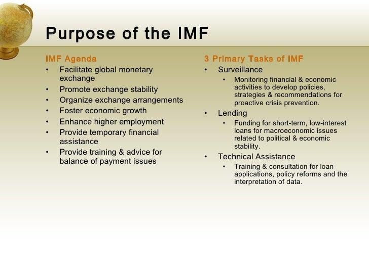 imf purpose