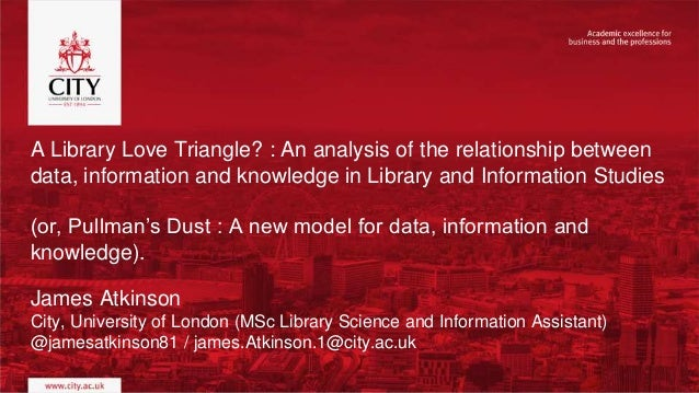 A Library Love Triangle? : An analysis of the relationship between data, information and knowledge in Library and Informat...