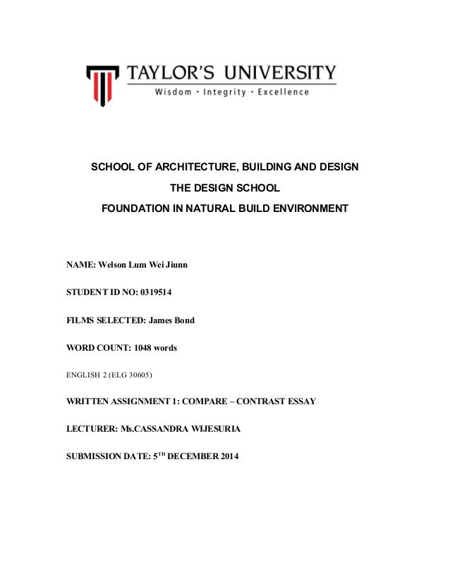 james bond english essay assignment james bond english essay assignment school of architecture building and design the design school foundation in natural build environment