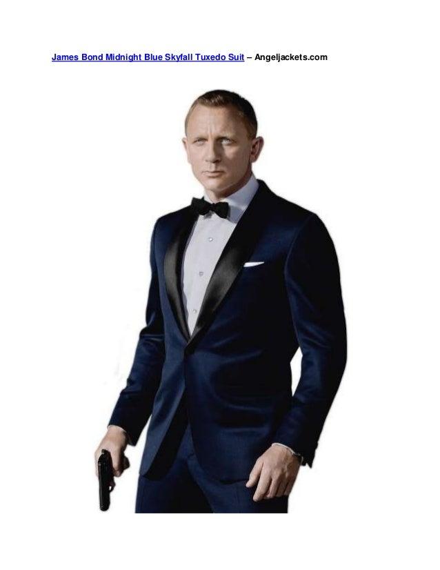 James Bond Midnight Blue Skyfall Tuxedo Suit