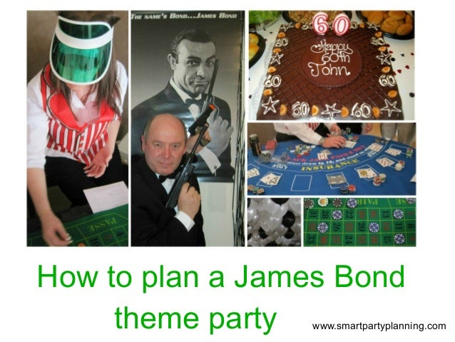 how to plan a james bond party
