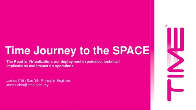 1 Time Journey to the SPACE James Chin Sze Yih, Principle Engineer james.chin@time.com.my The Road to Virtualization: our ...