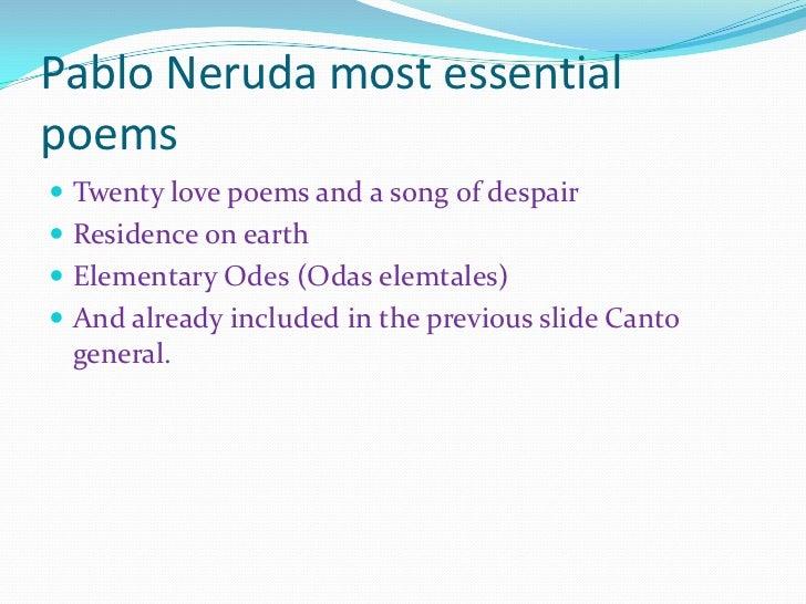 From – Twenty Poems Of Love - Poem by Pablo Neruda