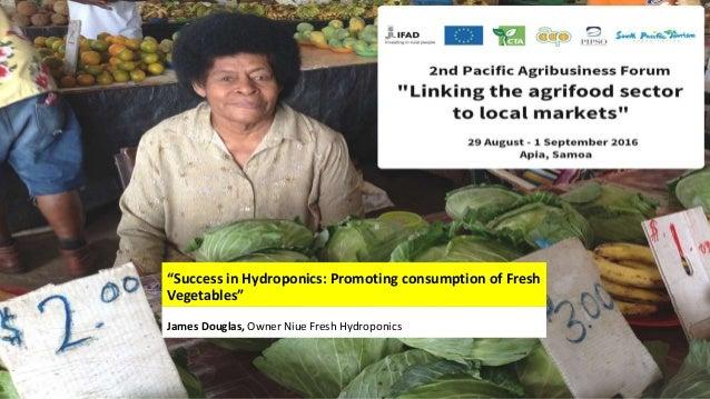 """Success in Hydroponics: Promoting consumption of Fresh Vegetables"" James Douglas, Owner Niue Fresh Hydroponics"