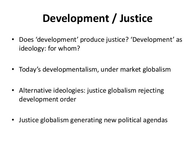 what is justice globalism