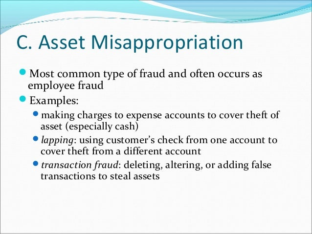 types of asset misappropriation