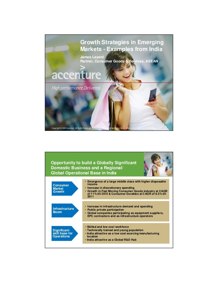 Growth Strategies in Emerging                                   Markets - Examples from India                             ...