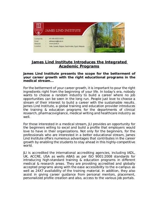 James lind institute introduces certificate program in clinical resea…