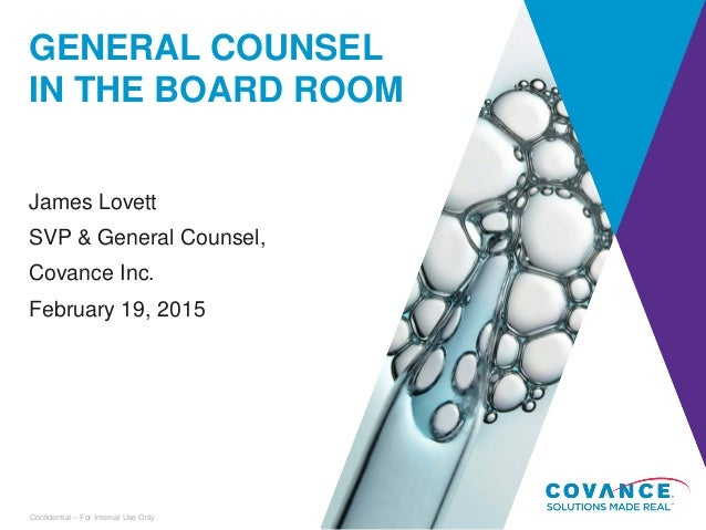 General counsel role in ipo