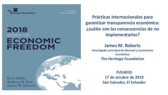 Prácticas internacionales para garantizar transparencia económica: ¿cuáles son las consecuencias de no implementarlas? Jam...