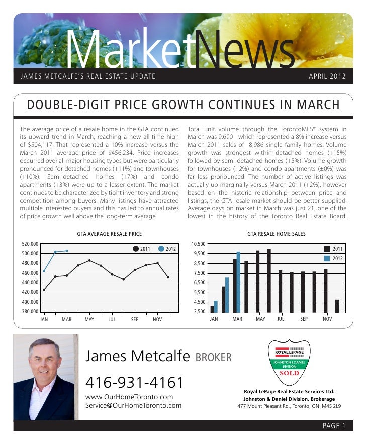 MarketNews      JAMES METCALFE'S REAL ESTATE UPDATE                                                                       ...