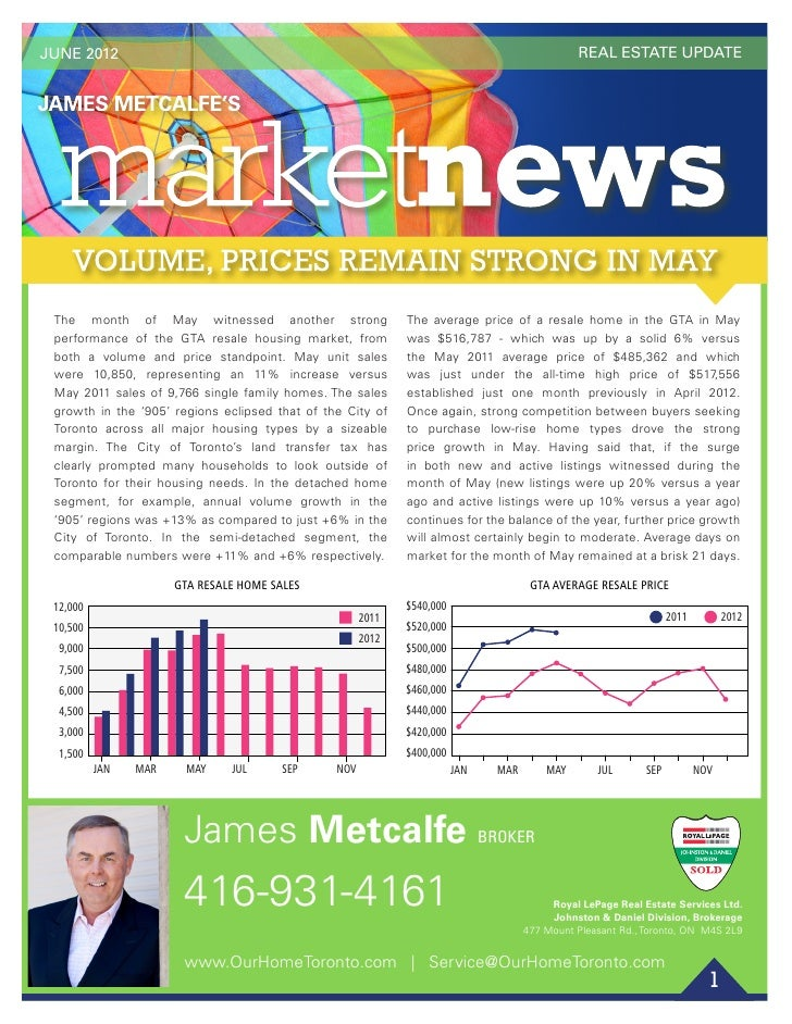 JUNE 2012                                                                                              REAL ESTATE UPDATE ...