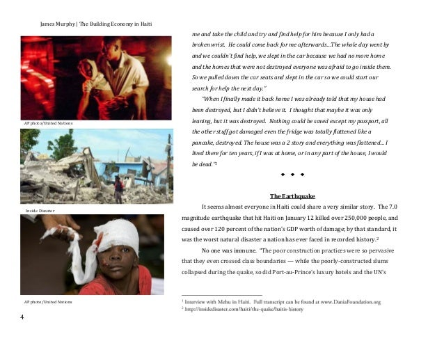 essay on earthquake in haiti Gay marriage is one of the most talked about crisis in today's society the majority of the world is against gay marriage and gay people but i p.