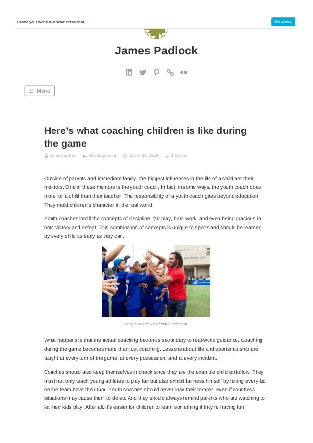 Here's what coaching children is like during the game jamespadlock Uncategorized March 29, 2018 1 Minute Outside of parent...