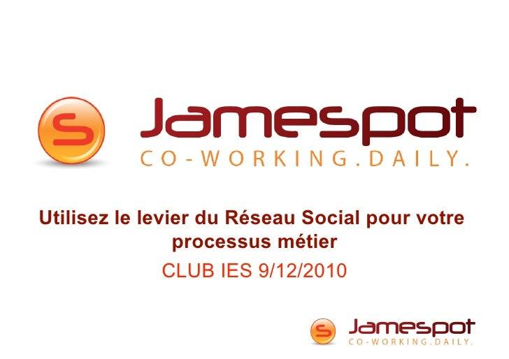Utilisez le levier du Réseau Social pour votre                processus métier               CLUB IES 9/12/2010