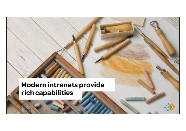 Modern intranets provide rich capabilities