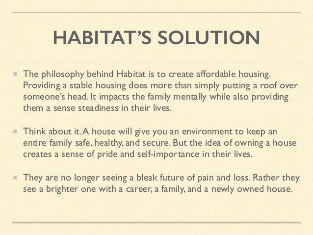 PERSONAL EXPERIENCE My time with Habitat For Humanity has strengthened my movement in social equity.The idea that I was bu...