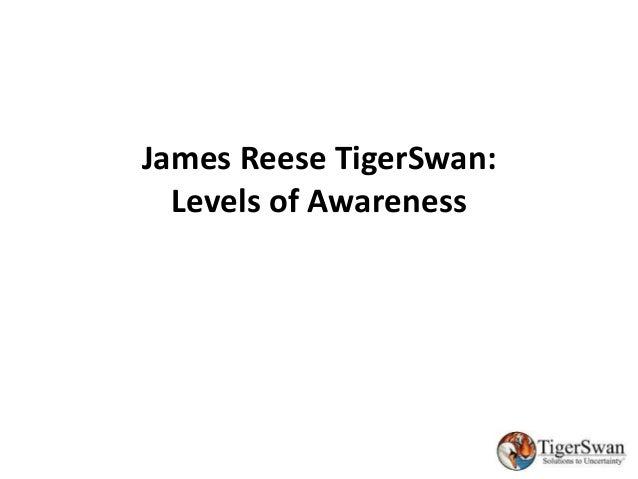 James Reese TigerSwan: Levels of Awareness