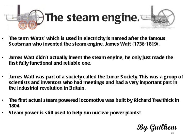 the importance of the development of the steam engine