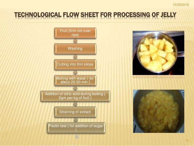 jam, jelly \u0026marmalade11 technological flow sheet for processing of jelly