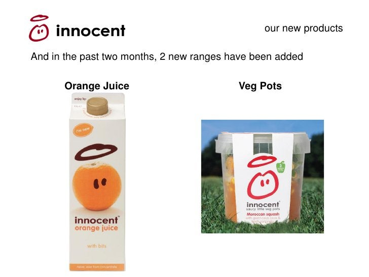 our new products  And in the past two months, 2 new ranges have been added        Orange Juice                        Veg ...