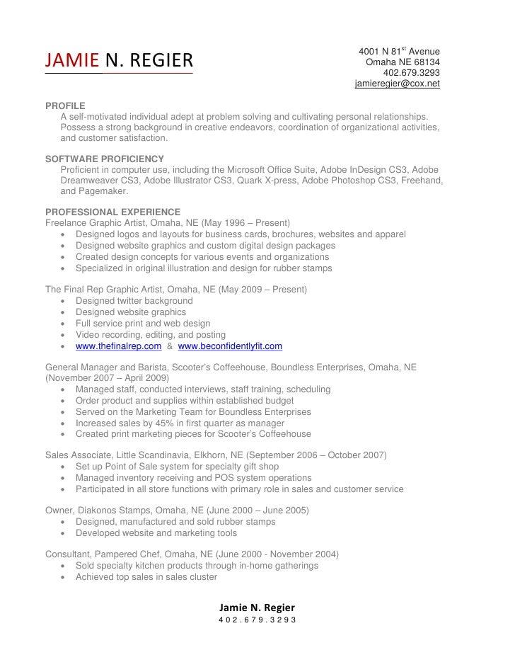 Jamie N Regier 2009 Resume