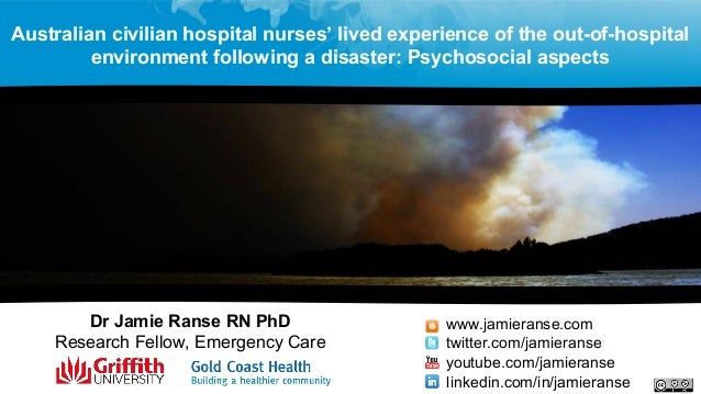 Dr Jamie Ranse RN PhD Research Fellow, Emergency Care www.jamieranse.com twitter.com/jamieranse youtube.com/jamieranse lin...