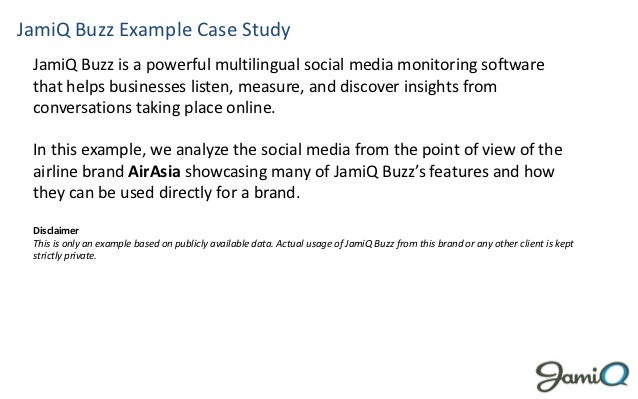 JamiQ Buzz Example Case Study JamiQ Buzz is a powerful multilingual social media monitoring software that helps businesses...