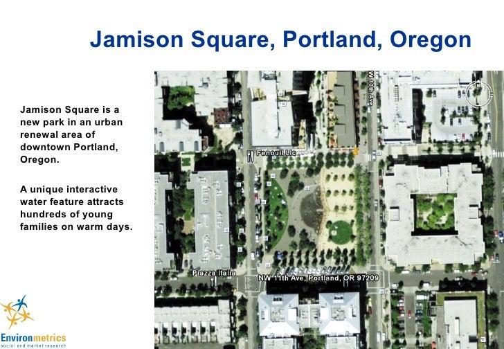 Jamison Square, Portland, Oregon Jamison Square is a new park in an urban renewal area of downtown Portland, Oregon. A uni...