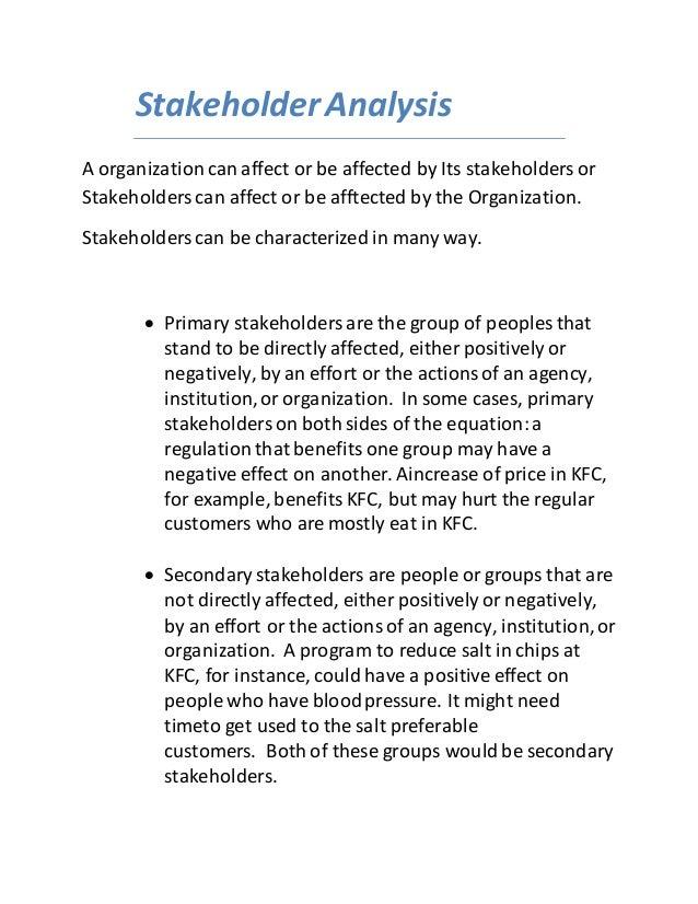 stakeholder essay example