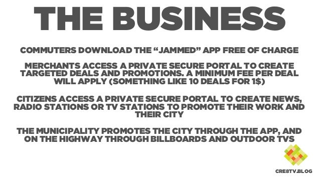 """THE BUSINESS COMMUTERS DOWNLOAD THE """"JAMMED"""" APP FREE OF CHARGE MERCHANTS ACCESS A PRIVATE SECURE PORTAL TO CREATE TARGETE..."""