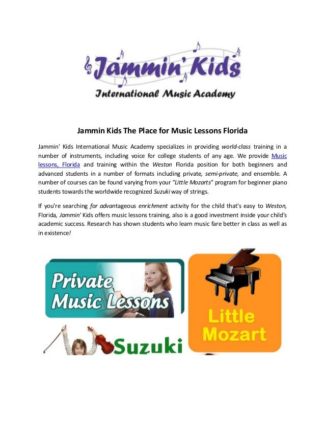 Jammin Kids The Place for Music Lessons FloridaJammin Kids International Music Academy specializes in providing world-clas...