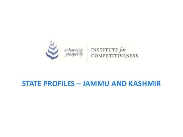 STATE PROFILES – JAMMU AND KASHMIR