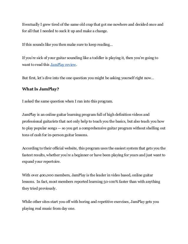 Jamplay Review and Sneak Peek - JamPlay  Slide 2