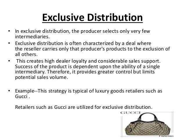 exclusive distribution distribution channel rakesh kumar(group 5)