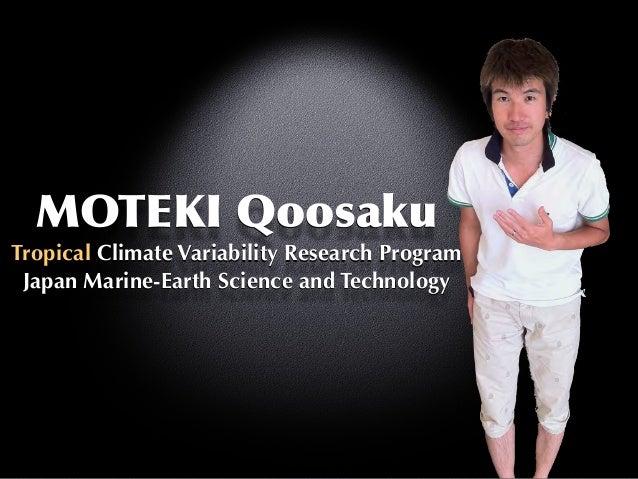 MOTEKI  Qoosaku Tropical Climate Variability Research Program Japan Marine-Earth Science and Technology