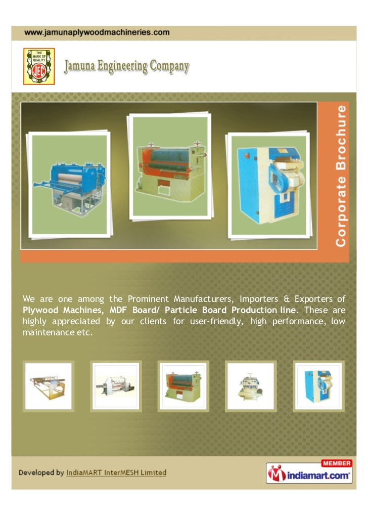 We are one among the Prominent Manufacturers, Importers & Exporters ofPlywood Machines, MDF Board/ Particle Board Producti...