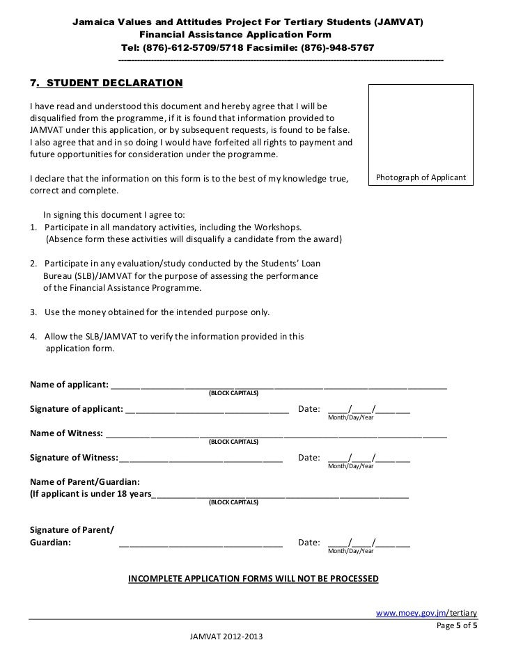 Jamvat Application Form 2012 2013