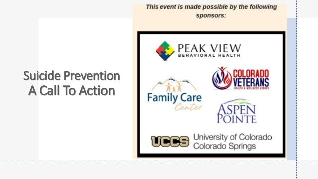 Suicide Prevention A Call To Action