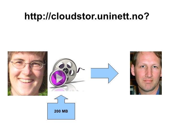 http://cloudstor.uninett.no?      200 MB