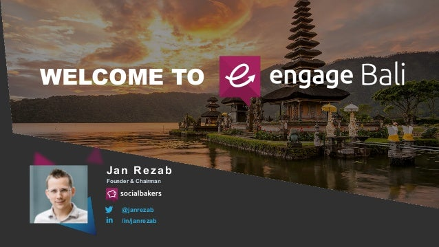 WELCOME TO Jan Rezab Founder & Chairman @janrezab /in/janrezab
