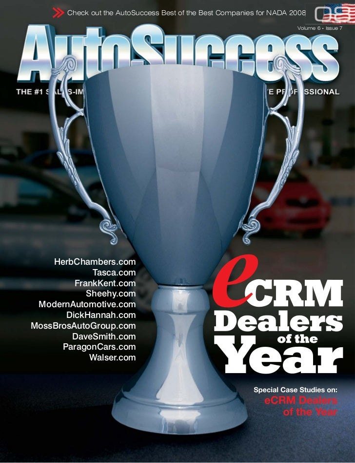 Check out the AutoSuccess Best of the Best Companies for NADA 2008                                                        ...