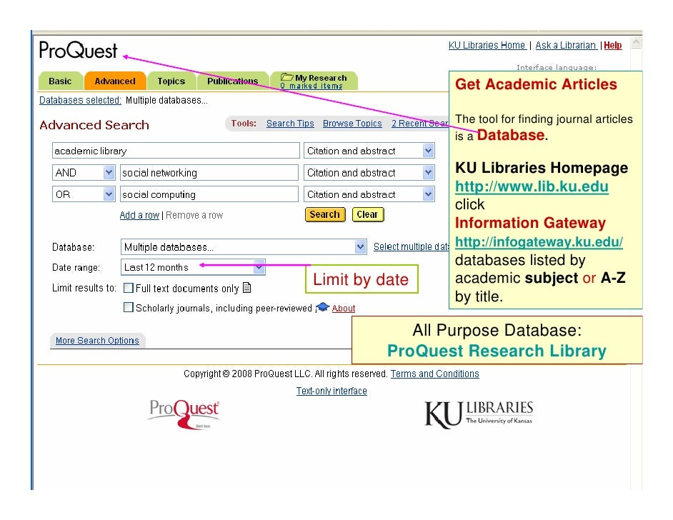 Online research database