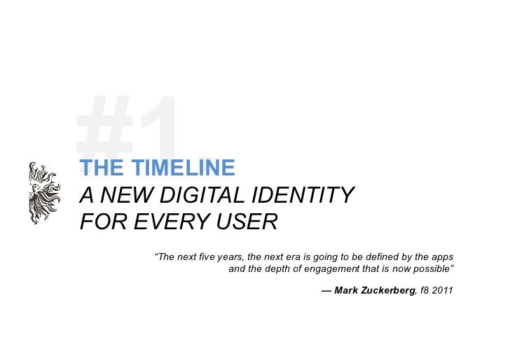 "#1. 	  THE TIMELINEA NEW DIGITAL IDENTITYFOR EVERY USER     ""The next five years, the next era is going to be defined by t..."